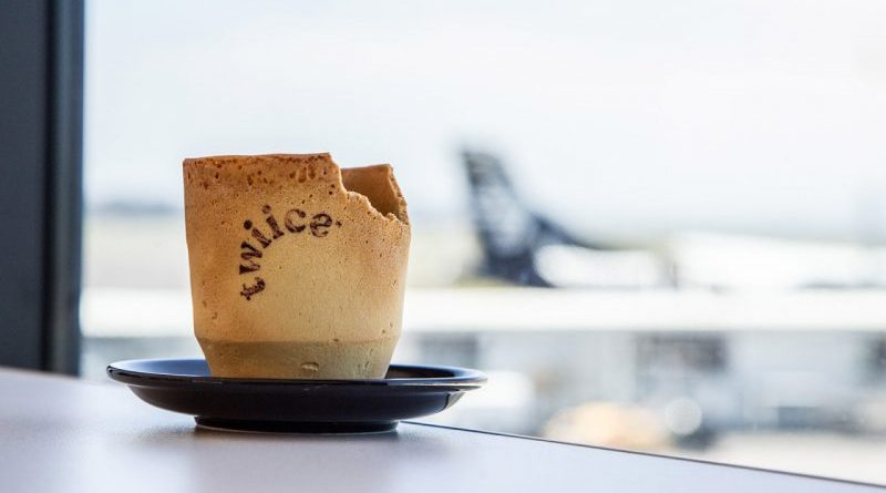 Air New Zealand sirve sus cafés en tazas comestibles para reducir la basura