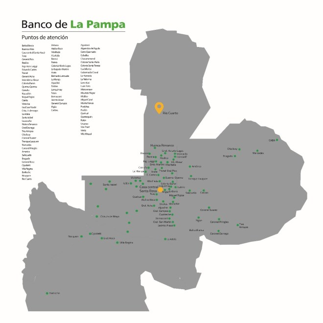 Sucursales Banco de La Pampa