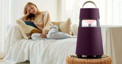LG lanzó el primer parlante fabricado a partir de materiales reciclables