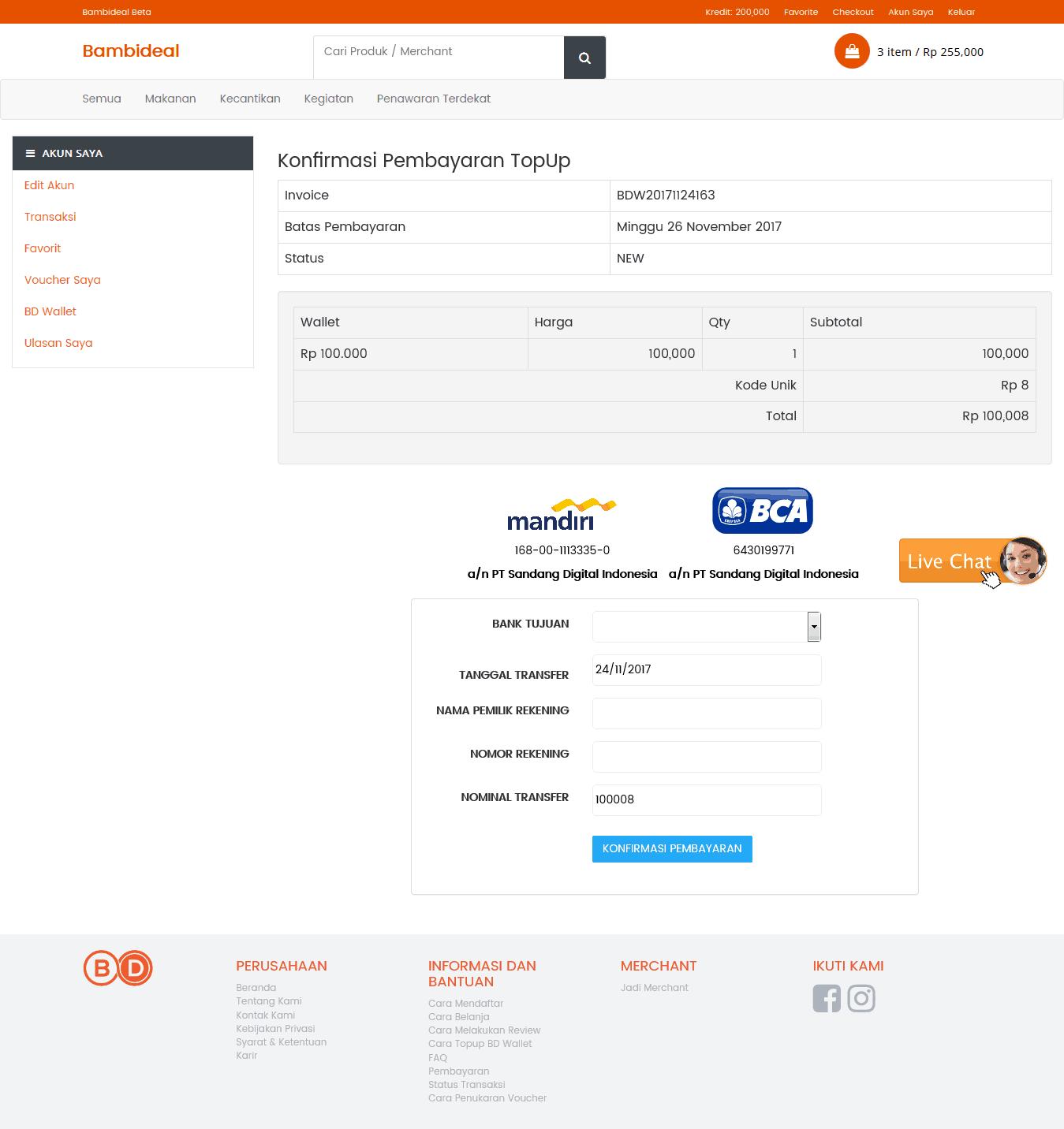 Masirwin Konfirmasi Pembayaran Bambideal 1