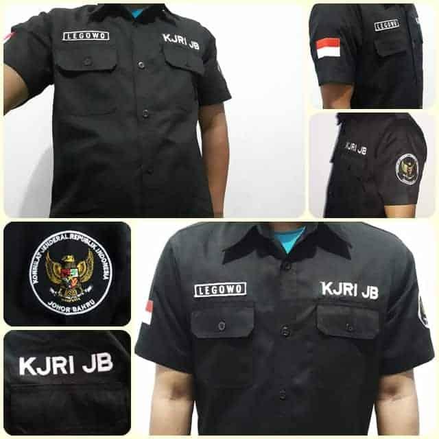 bikin seragam kantor, seragam kerja, pakaian kerja, busana karyawan, logo perusahaan, hasil seragamkantor.id