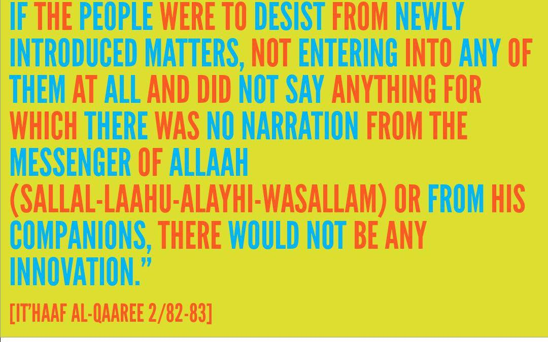 If People Desisted and Did Not Enter Into Bidah, Certainly They Would Have Attained Safety- By Shaikh Saaleh Al-Fawzaan