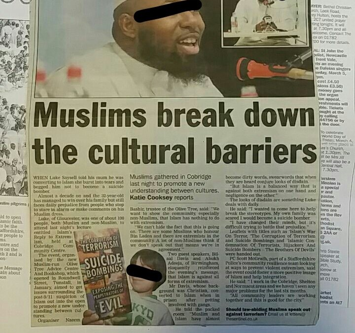 Posters and Local Newspaper Clippings- [Since 2005, Brothers at Masjid Al-Furqaan (Stoke-On-Trent) Have Been Inviting Some of The Salafi Teachers At SalafiPublications (Birmingham) To Combat The Ideology of The Inhumane Terrorists]