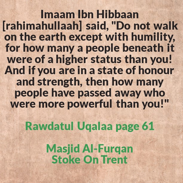 Be Humble In The Earth!