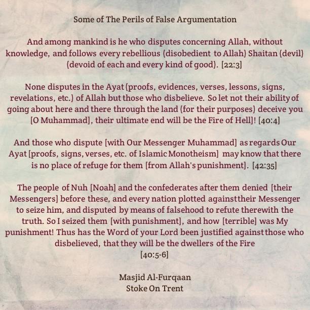 Some Perils of False Argumentation and Obstinacy