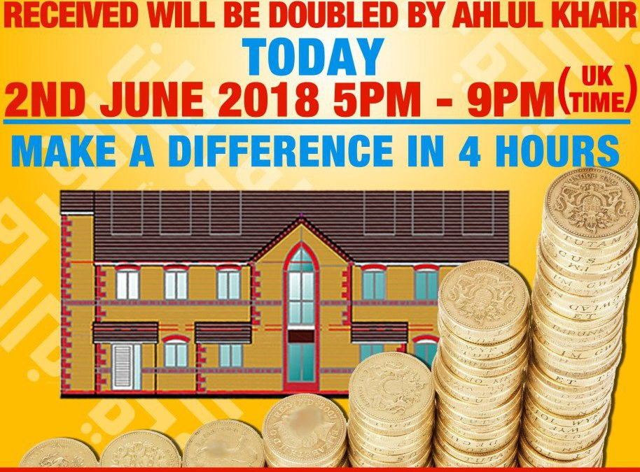 EXCLUSIVE EVENT | DOUBLE YOUR DONATIONS | TODAY FROM 5PM – 9PM