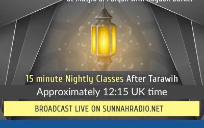 Ramadhaan Reminders 1440H/2019