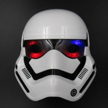 Маска клона штурмовика из Звездных войн светящаяся