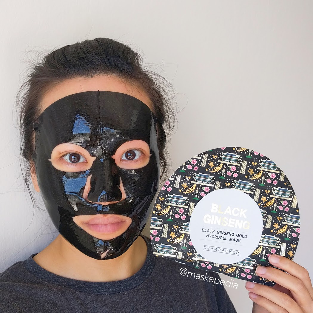 Dearpacker Black Ginseng Gold Hydrogel Mask