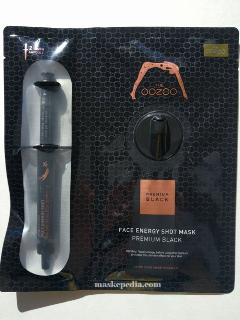 Oozoo Face Energy Shot Mask Premium Black