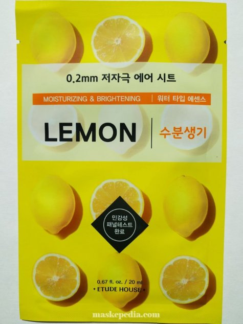 Etude House 0.2mm Air Therapy Lemon Mask