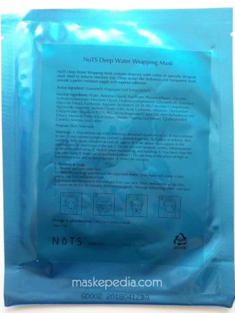NoTS Deep Water Wrapping Mask