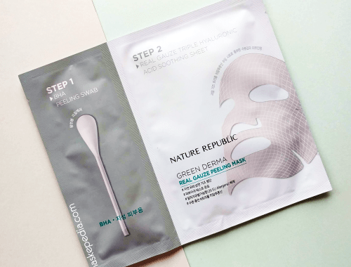 Nature Republic Green Derma Real Gauze Peeling Mask