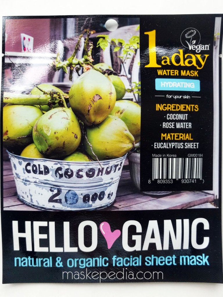 Helloganic One a Day Vegetable Sheet Mask – Hydrating