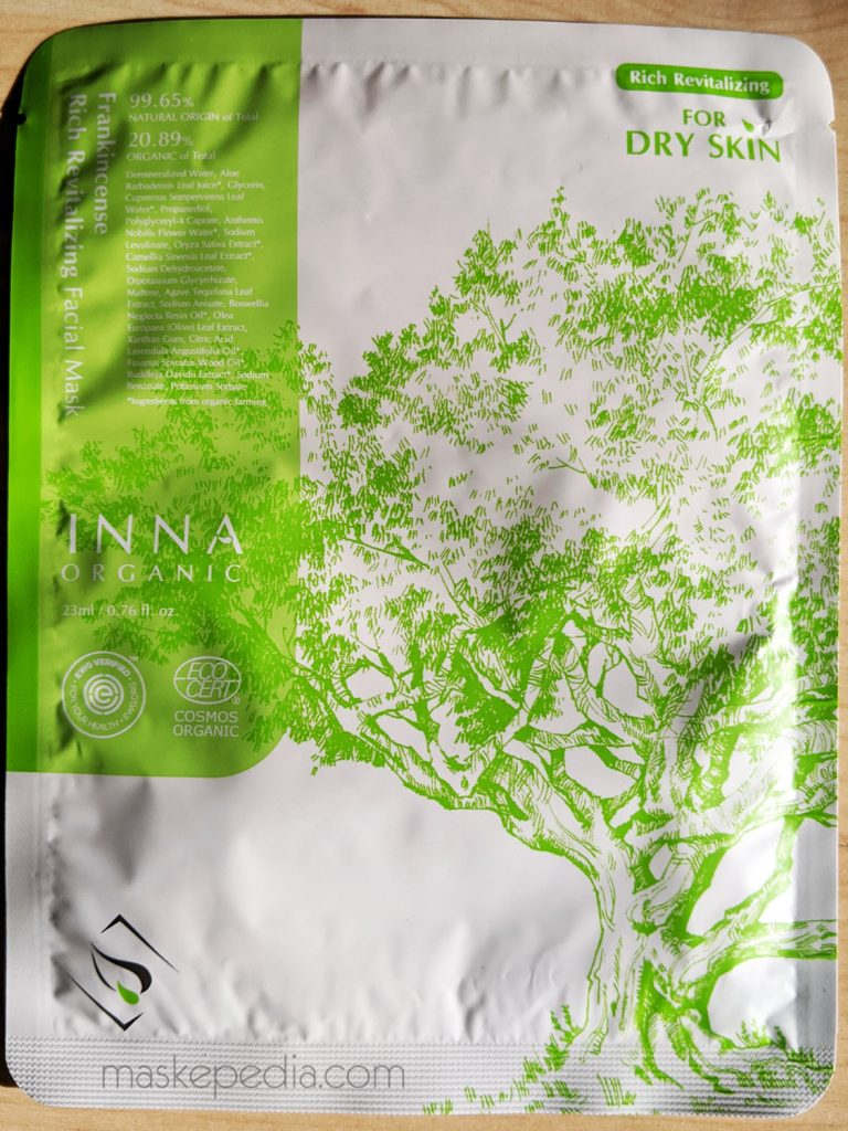 Inna Organic Frankincense Rich Revitalizing Facial Mask