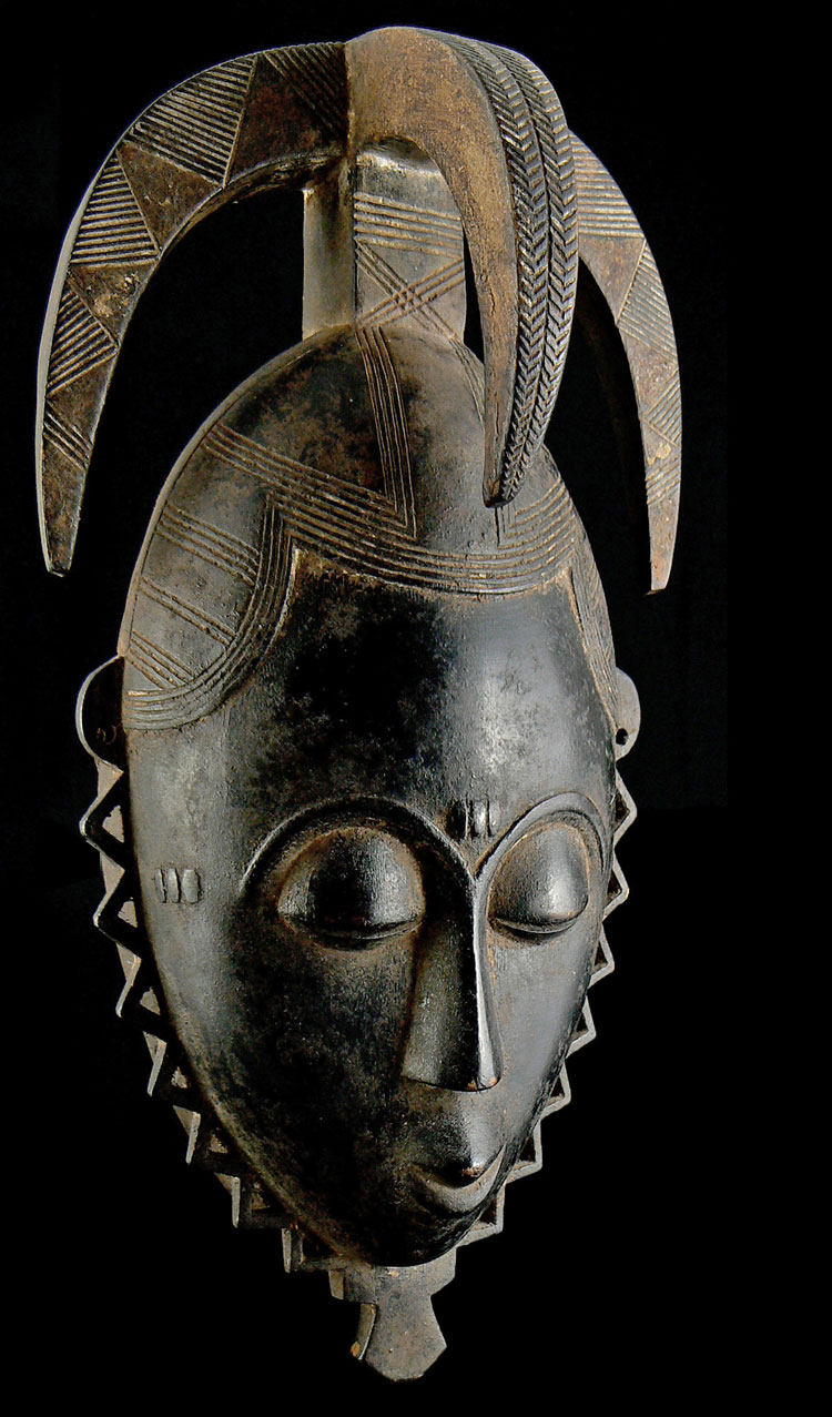 Beautiful Yaure mask from Africa  Masks of the World