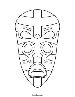 Printable African Mask