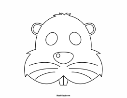 Printable Beaver Mask