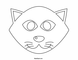 Printable Black Cat Mask