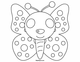 Printable Butterfly Mask