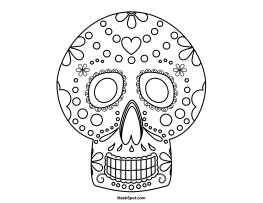 Printable Day of the Dead Mask