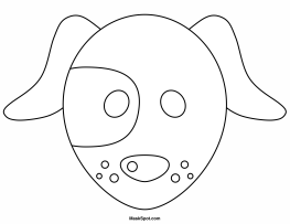 Printable Dog Mask