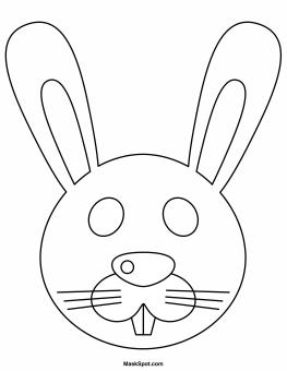 Printable Easter Bunny Mask