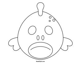 Printable Fish Mask