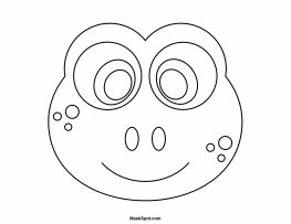 Printable Frog Mask