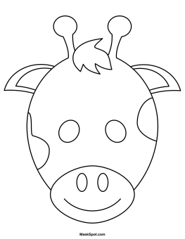 Printable Giraffe Mask