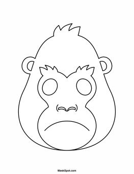 Printable Gorilla Mask