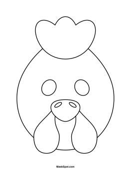 Printable Hen Mask