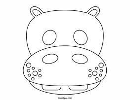 Printable Hippo Mask