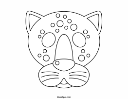 Printable Jaguar Mask