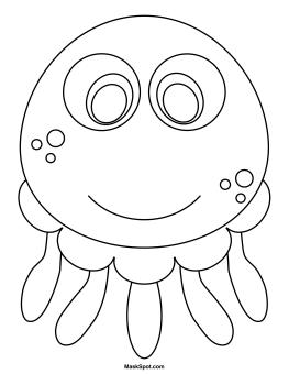 Printable Jellyfish Mask
