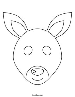 Printable Kangaroo Mask