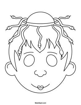 Printable Medusa Mask
