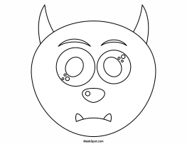 Blank Face Coloring Page Coloring Pages