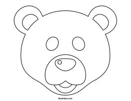 Printable Polar Bear Mask