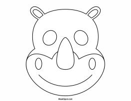 Printable Rhino Mask