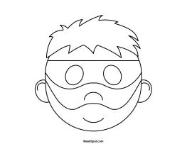 Printable Robber Mask