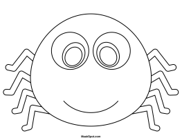 Printable Spider Mask
