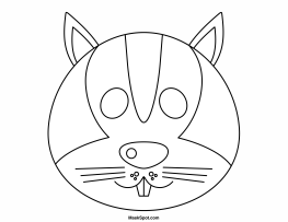 Printable Squirrel Mask