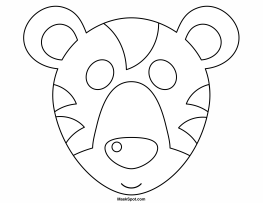 Printable Tiger Mask