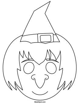 Printable Witch Mask