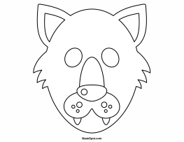 Pretty Wolf Mask Template Pictures. Printable 3d Paper