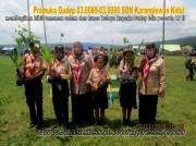 SDN Karanglewas Kidul membagi bibit tanaman pada acara Jambore LT II Kwartir Ranting Kecamatan Karanglewas 2015 (6)