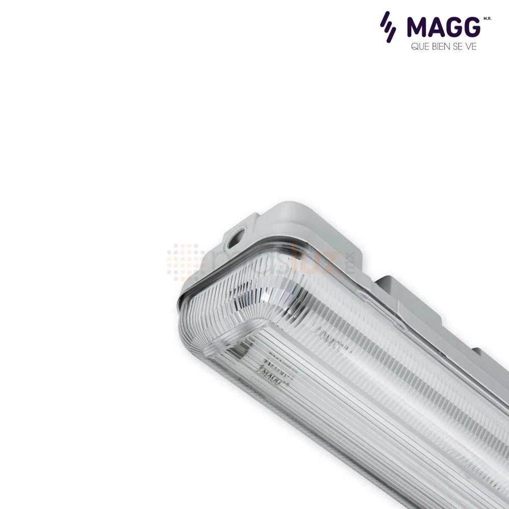 Gabinete Gamma 2x32w 127V T8 Gris MAGG  masluz