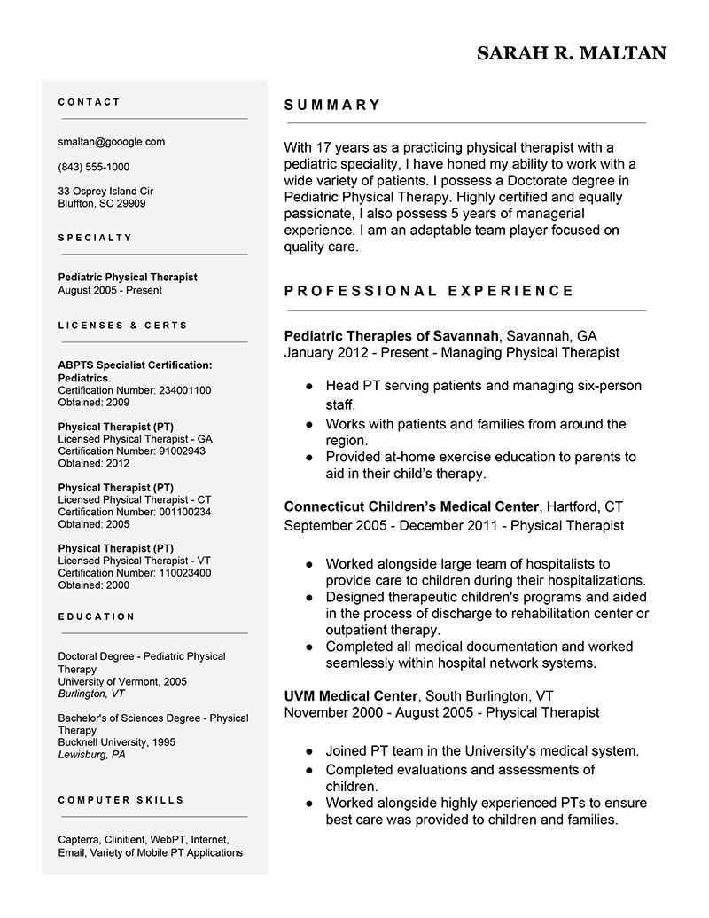 How To Fill Out Skills On A Resume 7 Easy Ways To Improve Your Physical Therapist Resume