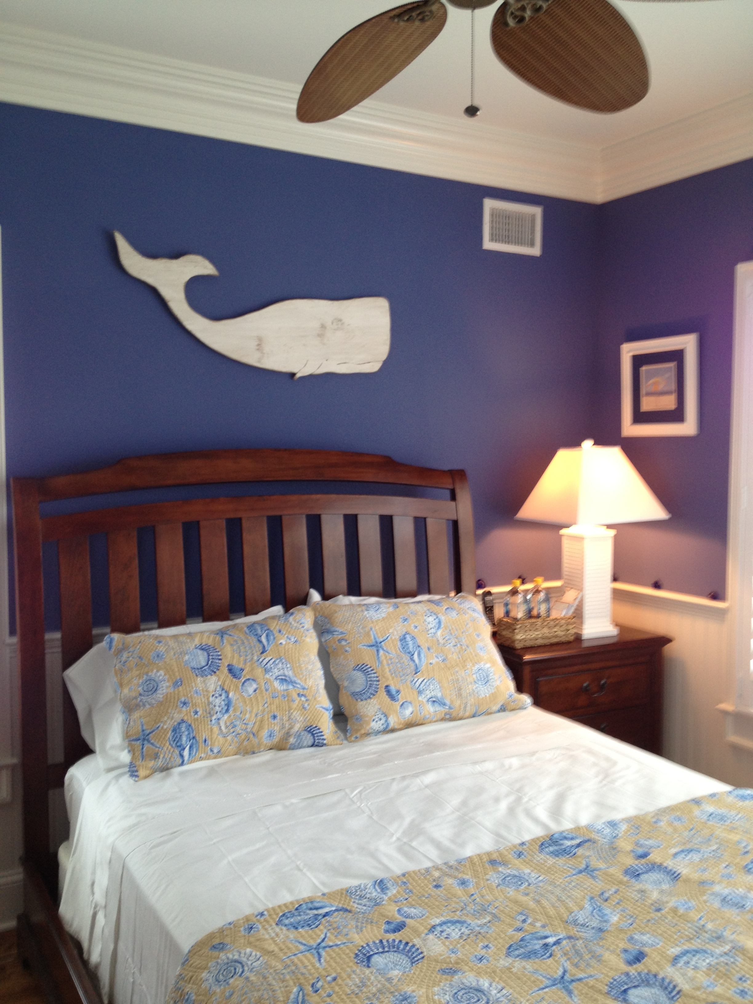 Guest Bedroom with whale decor